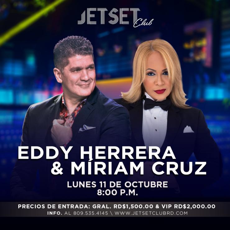 Eddy Herrera y Míriam Cruz